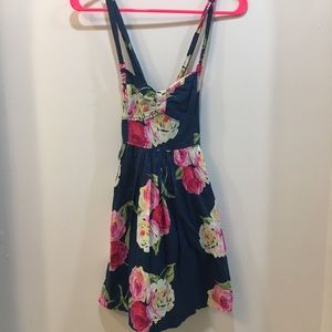 Abercrombie & Fitch Blue Floral Sundress